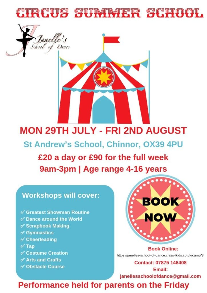 Janelle's Circus Themed Summer School Poster JPG