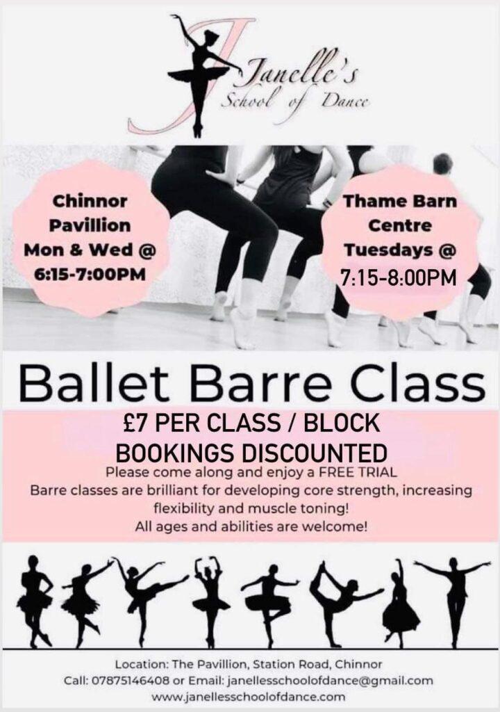 Ballet Barre Class Poster
